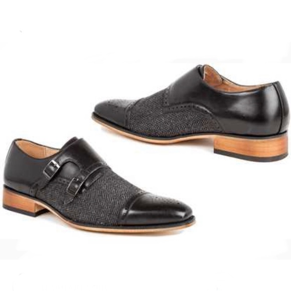 29b462d8cfb Gino Vitale monk strap two tones shoes